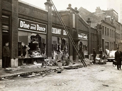 Buck Jones, 50, was among the over 480 victims of the tragic Cocoanut Grove nightclub fire in Boston, MA, on November 28, 1942. Buck died November 30th of second and third degree burns. Below are three photos taken after the fire.