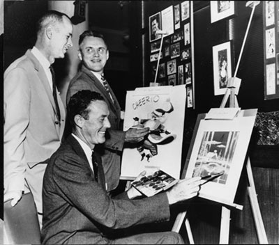 James Warren made several Zane Grey westerns at RKO. Before, during and after his film work he worked as a commercial illustrator. This photo is from 1963.