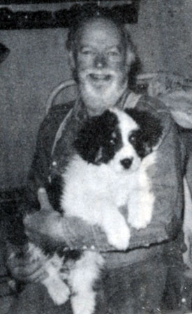 Bob Baker and his dog Tip at their home in Camp Verde, AZ, in 1972.