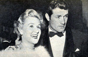 Singer Margaret Whiting and Hugh O'Brian attend a Thalians dinner in 1956.