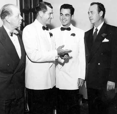 Ray Whitley with his new son-in-law and wedding guests Hoot Gibson and Eddie Dean.