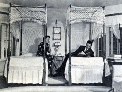 Johnny Mack Brown and his wife Cornelia Foster in their bedroom known as the Washington room. The Browns were married from 1926 until his death on November 14, 1974.