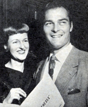 """Lawman"" John Russell married his childhood sweetheart Renata Titus in June, 1943 when he was just out of the service. They were divorced in 1966. Photo from 1958."