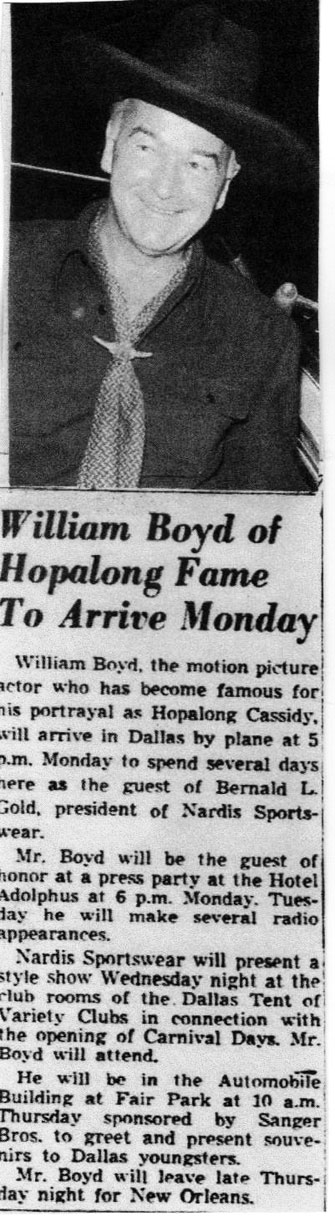 William Boyd- Circa early '50s, Dallas, Texas. (Thanx to Billy Holcomb.)