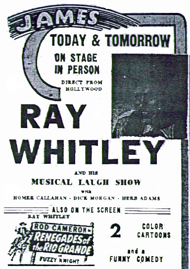 Ray Whitley- 1945, Newport News, Virginia. (Thanx to Bill Sasser.)