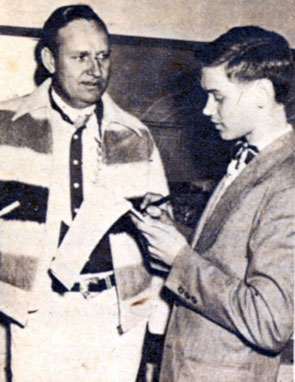 Holmes High School, Covington, KY, student Jimmy Willmer got an exclusive interview in March 1948 with Gene while the cowboy was appearing in Cincinnati.