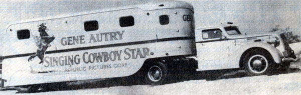 This is the trailer in which Champion and Gene's horses were transported to England and back.