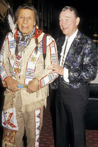 Iron Eyes Cody and Roy at the 1987 Angels Awards at the Ambassador Hotel in L.A.