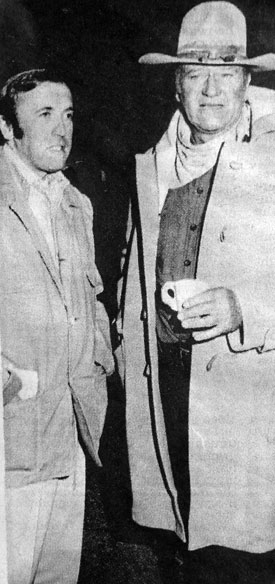 Sir David Frost with John Wayne in 1973. (Thanx to Terry Cutts.)