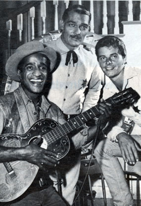 "Sammy Davis Jr. was a huge Western fan. Sammy guested on ""Lawman"" with John Russell and Peter Brown in the ""Blue Boss and Willie Shay"" episode in '61."