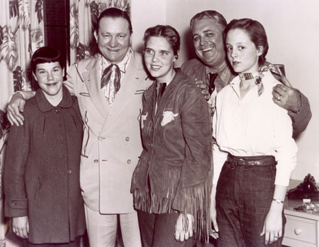 Tex Ritter in 1956 with members of the Dodge City, Kansas, 4-H clubs.