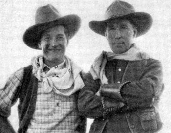Maurice Chevalier goes western with William S. Hart in 1932.