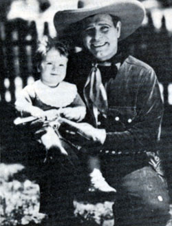 Early Western star Jack Hoxie with his granddaughter Georgianna Malaby.