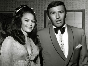 """The Virginian"", James Drury, with his second wife from '68-'79, Phyllis Mitchell."