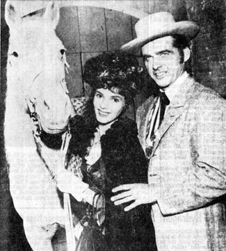 "Starfire, Joyce Vanderveen and Doug Odney starred on ""Death Valley Days: Pioneer Circus"" ('59) portraying world famous equestrienne Mlle. Juliette Bonet, her mount Comtesse and high wire artist Dan Rowland."