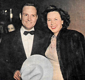 "Gene Autry and wife Ina at the Academy Awards in 1949 where Gene sang ""Lavender Blue"", the Oscar nominated Best Original Song from Disney's ""So Dear to My Heart"" ('48). The song was sung by Burl Ives in the movie."