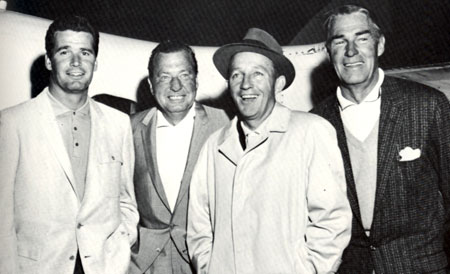 mes Garner, Phil Harris, Bing Crosby and Randolph Scott staged a benefit golf exhibition for the Decon Foundation of Tucson in February 1960.