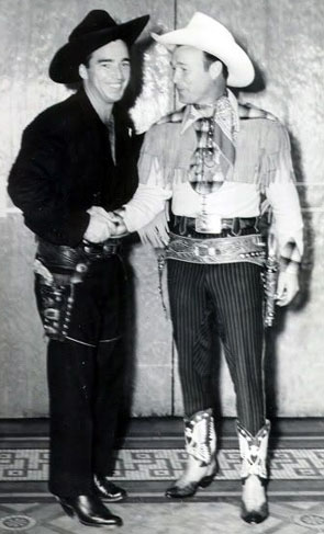 Two Western legends...Lash LaRue and Roy Rogers.