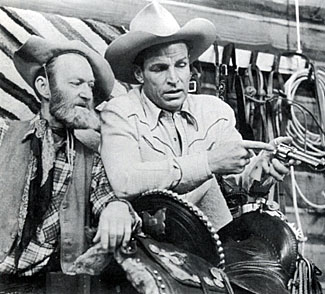 """See Fuzzy, this is the chamber...,"" Buster Crabbe tells a perplexed Al ""Fuzzy"" St. John."