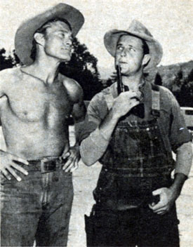 "Los Angeles Dodgers pitcher Don Drysdale guested on a ""Rifleman"" episode, ""The Skull"" with Chuck Connors, a former ball player himself."