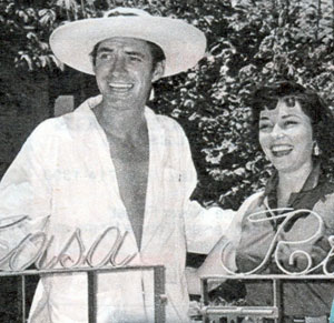 Jock Mayhoney and wife Margart Field enjoy some vacation time at a place called Casa Rio.