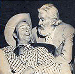 Roy Rogers and Gabby Hayes in New York circa 1950. (Courtesy Billy Holcomb.)