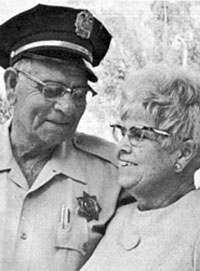 Jack Hoxie's brother Al Hoxie was a minor star of some 20 silent Westerns and later became a Sergeant and Chief Security Officer at Patton State Hospital in San Bernardino, California. His wife Marie is shown here with Al.
