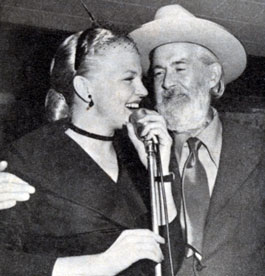 Singer Peggy Lee with Gabby Hayes.