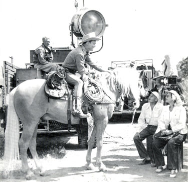 Roy Rogers and Trigger get ready to film another Republic Pictures scene.