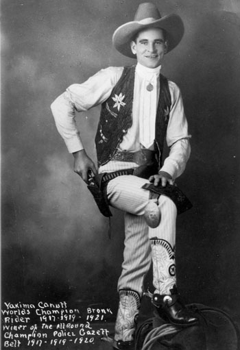 Rodeo champion Yakima Canutt in 1921. (Thanx to Neil Summers.)