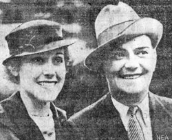 "Wedding bells rang in 1932 for Charles Starrett sidekick Cliff ""Ukulele Ike"" Edwards and Nancy Dover."