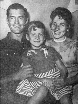 The Walkers in 1957...Clint, Valerie Jean, Lucille.