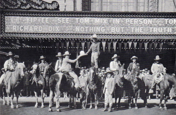 Tom Mix at a personal appearance May 7, 1929 at the State Theater in Minneapolis,  MN. (Thanx to Billy Holcomb.)