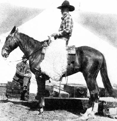 "Buck Jones at about 18 or 19 years of age as a working cowboy on the Miller Brothers 101 Ranch near Ponca City, OK. Buck's pay was $15 a month plus ""chuck and bunk""."