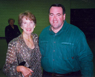 Julia Adams attended a film festival in Little Rock, AR, in October, 2000, and had this picture taken with then governor and later presidential candidate Mike Huckabee.