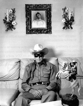 Clayton Moore, the Lone Ranger, at his home in Las Angeles, CA, in 1992.