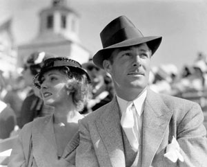 Randolph Scott and Vivian Gaye at the July 2, 1933, Los Angeles National Air Races. (Photo submitted by Bobby Copeland.)