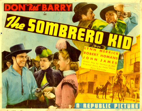 "Title card for ""The Sombrero Kid"" starring Don Barry."