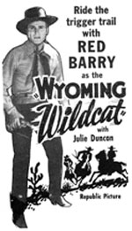 "Newspaper ad for ""Wyoming Wildcat"" starring Don Red Barry."