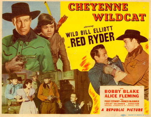 "Title Card for ""Cheyenne Wildcat""."