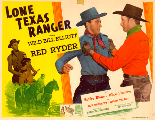 "Title Card for ""Lone Texas Ranger""."