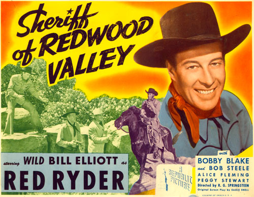 "Title Card for ""Sheriff of Redwood Valley."