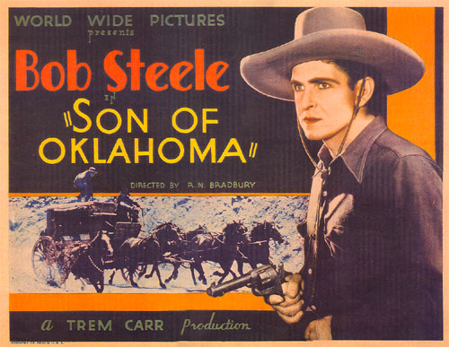 "Title card from ""Son of Oklahoma"" starring Bob Steele."