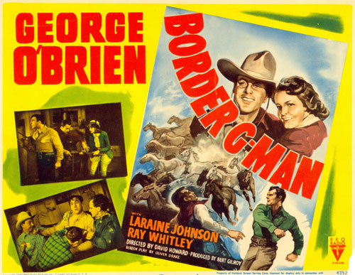 "Title card for ""Border G-Man"" starring George O'Brien."