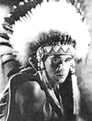 "O;Brien as an Indian chief in ""The Golden West""."