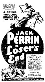 "Ad for ""Loser's End""."