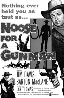 "Movie poster for ""Noose for a Gunman"" ('60)."