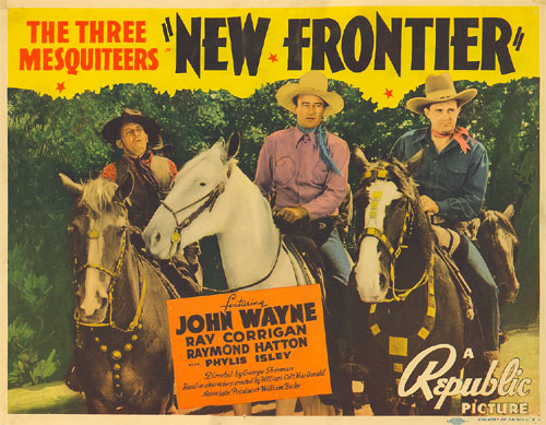"Title Card for ""New Frontier"" with The Three Mesquiteers ('39)."