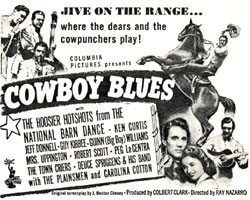 "Newspaper ad for ""Cowboy Blues"" starring Ken Curtis."