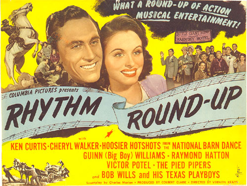 "Title card from ""Rhythm Round-Up"" starring Ken Curtis."